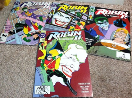 Slipcase Robin II Deluxe Collectors Set DC Includes Comics Cards Boards /<