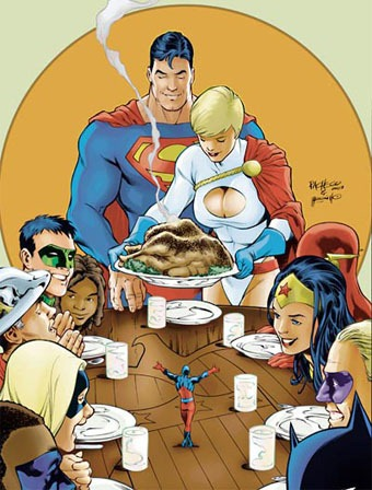 thanksgivingwiththesuperheroes