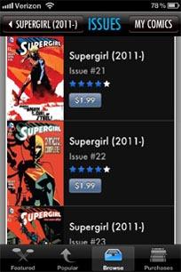 supergirlbackissuescomixology