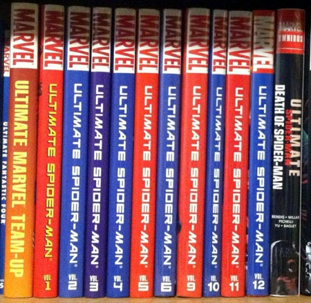 almost_complete_series_ult_spidey_hardcovers