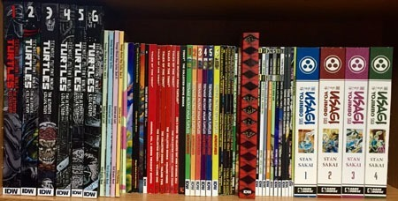 The TMNT Stuff As Well Newer Dark Horse Usagi Yojimbo Saga Volumes Theres Basically Just Enough Room To Add Fifth Volume Or