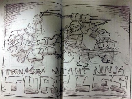 tmnt_artisan_edition_spread1_sketch